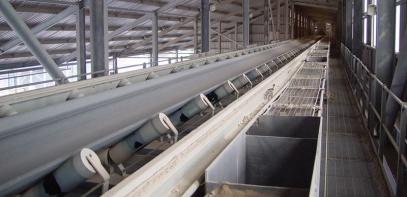 Конвейер ленточный стационарны элеватор для хранения оборудования